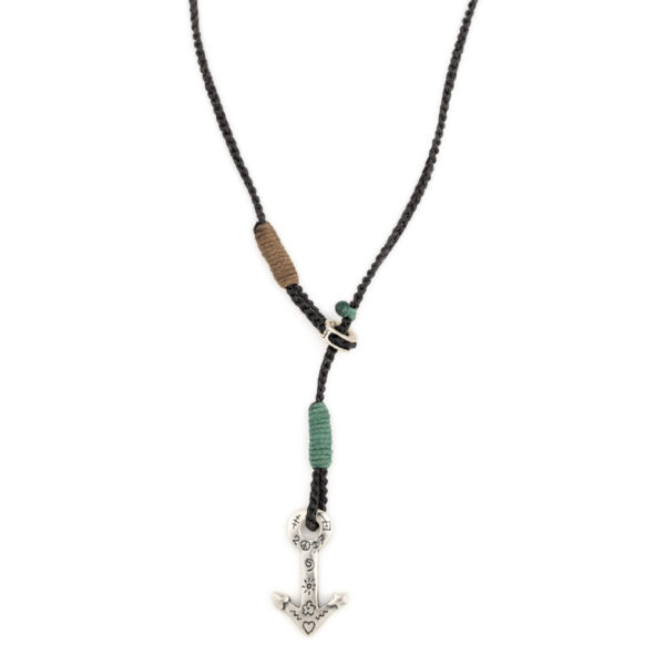 Babylonia Silver Necklace - Direction Love Peace n Trust