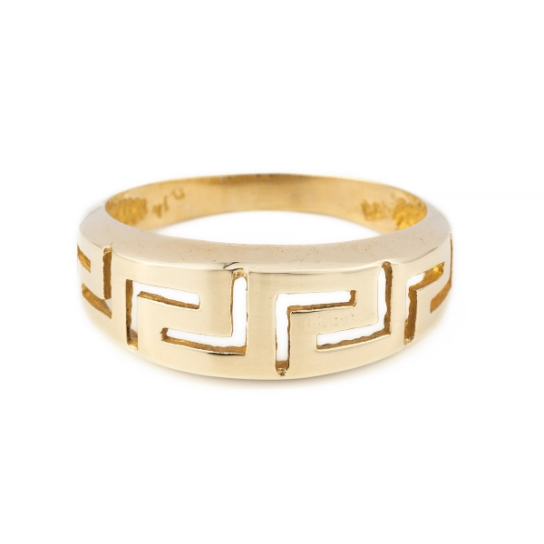 Meandros Ring in 14k Gold