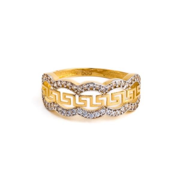 Meander Ring - Yellow Gold